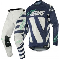 2019 Alpinestars Racer BRAAP Grey Navy Teal Motocross Gear