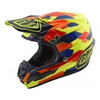 Troy Lee Designs SE4 Comp MIPS Motocross Helmet MAZE Yellow Blue SMALL ONLY
