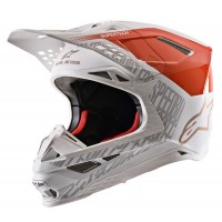 2020 Alpinestars Supertech SM-8 SM8 Triple Motocross Helmet Gloss Orange White