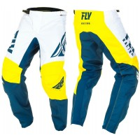 2019 Fly Racing F16 Kids Youth Motocross Pants Yellow White Navy 24 ONLY