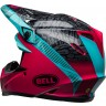 Bell Moto 9 Motocross Helmet CHIEF Matte Gloss Black Pink Blue