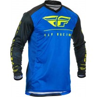 2020 Fly Racing Lite Hydrogen Motocross Jersey BLUE BLACK HI VIZ