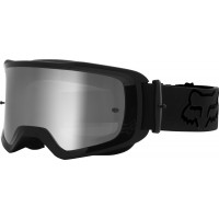 2021 Fox Main 2.0 STRAY Motocross Goggles BLACK with Clear Lens