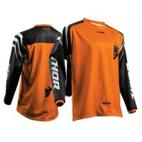 Thor Sector Zones Kids Youth Motocross Jersey BLACK ORANGE