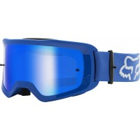 2021 Fox Main 2.0 STRAY Motocross Goggles BLUE with Spark Lens