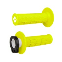 ODI Half Waffle Lock On Motocross Bike Grips Flo Yellow