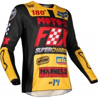 2019 Fox CZAR 180 Kids Youth Motocross Jersey BLACK YELLOW XL ONLY