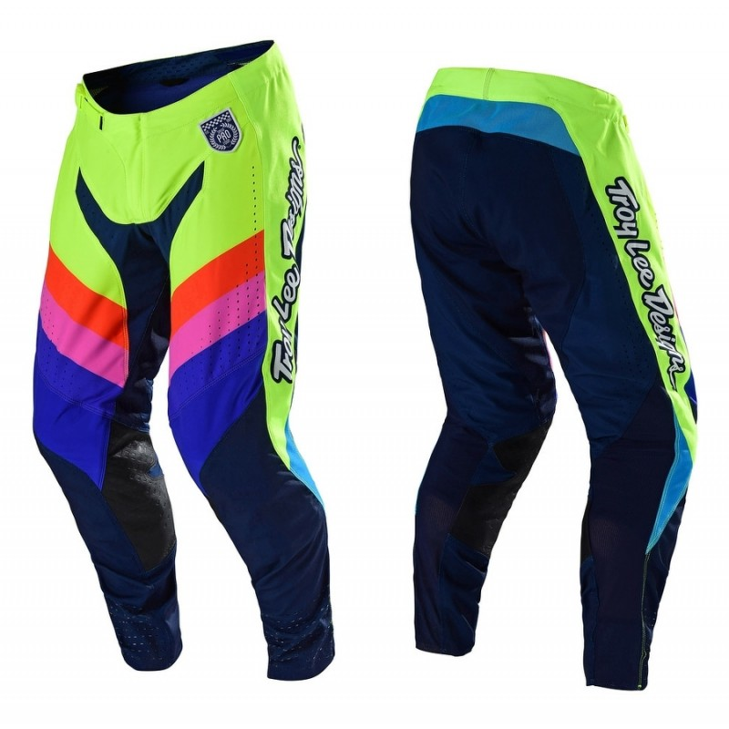 Troy Lee Designs MIRAGE TLD MX SE Pro Motocross Pants Yellow Navy 34 ONLY