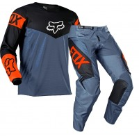 2021 Fox 180 Youth Kids Motocross Gear REVN BLUE STEEL