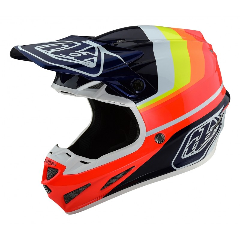 Troy Lee Designs TLD SE4 CARBON MIRAGE Motocross Helmet BLUE RED