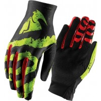 Thor Void RAMPANT Motocross Gloves LIME RED