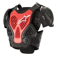 Alpinestars Bionic Armour ACU CE Approved EN1621 Chest Protector BLACK RED XL/XXL ONLY