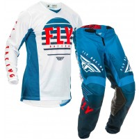 2020 Fly Racing Kinetic K220 Motocross Gear Blue White Red