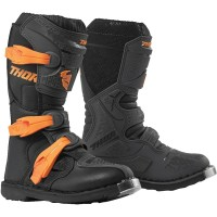 Thor Blitz XP Kids Youth Motocross Boots Charcoal Orange