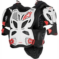 Alpinestars A10 ACU CE Approved EN1621 Full Body Armour White Red XS-SMALL ONLY