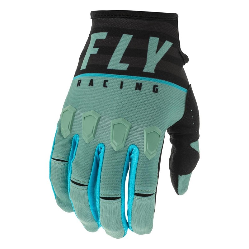 2020 Fly Racing Kinetic K120 Motocross Gloves Sage Green Black