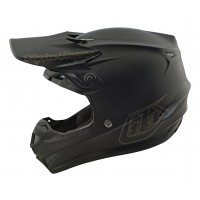 Troy Lee Designs SE4 MIPS POLY MONO Motocross Helmet BLACK