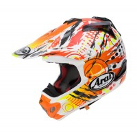 Arai MX-V Motocross Helmet MXV Scratch Yellow Orange