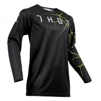 2019 Thor MX Prime Pro Infection Motocross Jersey Black Acid