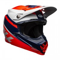 2021 Bell Moto 9 MIPS PROPHECY Motocross Helmet Infrared Navy Grey