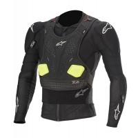 Alpinestars Bionic Pro Action Jacket Body Armour Suit Black Yellow