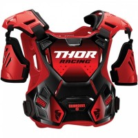 Thor Guardian Adult Motocross Chest Protector Body Armour with Arm Guards RED