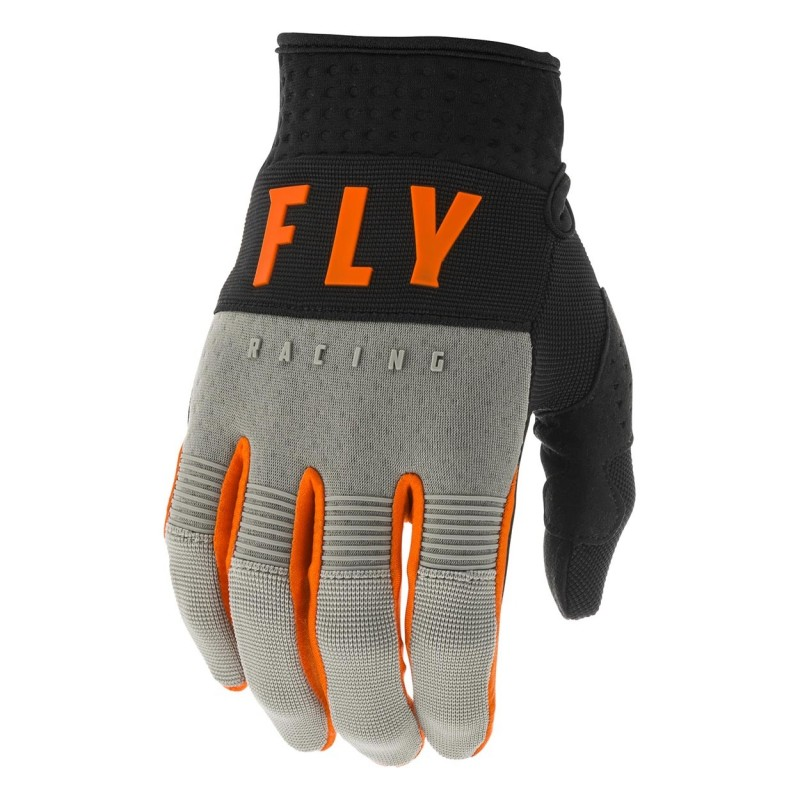 2020 Fly Racing F16 Youth Kids Motocross Gloves Grey Black Orange