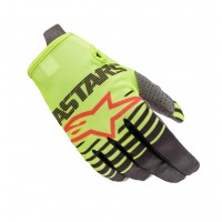 2020 Alpinestars RADAR Kids Motocross Gloves Flo Yellow Anthracite
