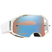 Oakley Airbrake FACTORY PILOT WHITEOUT Motocross Goggles PRIZM SAPPHIRE LENS