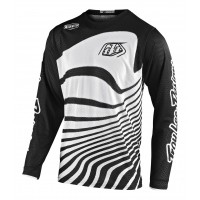 Troy Lee Designs DRIFT Youth Kids TLD GP Air Motocross Jersey BLACK WHITE