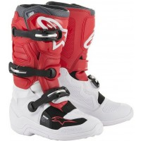 Alpinestar Tech 7S Kids Youth Motocross Boots White Red Grey