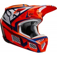 2020 Fox V3 IDOL Motocross Helmet ORANGE BLUE