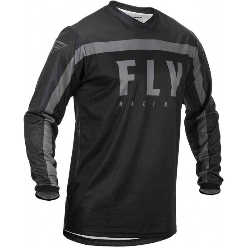 2020 Fly Racing F16 Youth Kids Motocross Jersey Black Grey