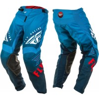 2020 Fly Racing Kinetic K220 Youth Kids Motocross Pants Blue White Red
