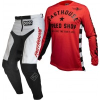 Fasthouse GRINDHOUSE Motocross Gear WHITE ORIGINAL AIR COOLED RED