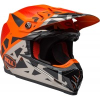 Bell Moto 9 Motocross Helmet TREMOR Matte Gloss Black Orange Chrome XS or SMALL ONLY