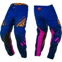 2020 Fly Racing Kinetic K220 Youth Kids Motocross Pants Midnight Blue Orange