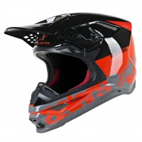 Alpinestars Supertech SM-8 SM8 Radium Motocross Helmet Red Black Grey