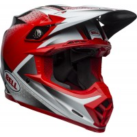 Bell Moto 9 Carbon Flex Motocross Helmet Hound Matte Gloss Red White