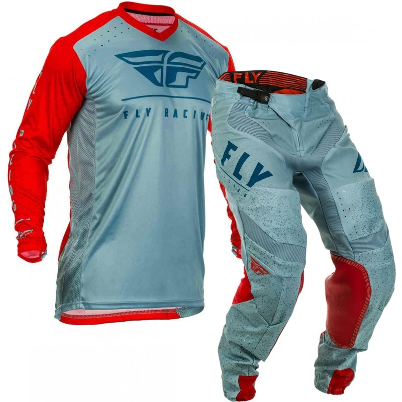 2020 Fly Racing Lite Hydrogen Motocross Gear RED SLATE NAVY