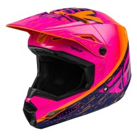 2020 Fly Racing Kinetic K120 Motocross Helmet ORANGE PINK BLUE