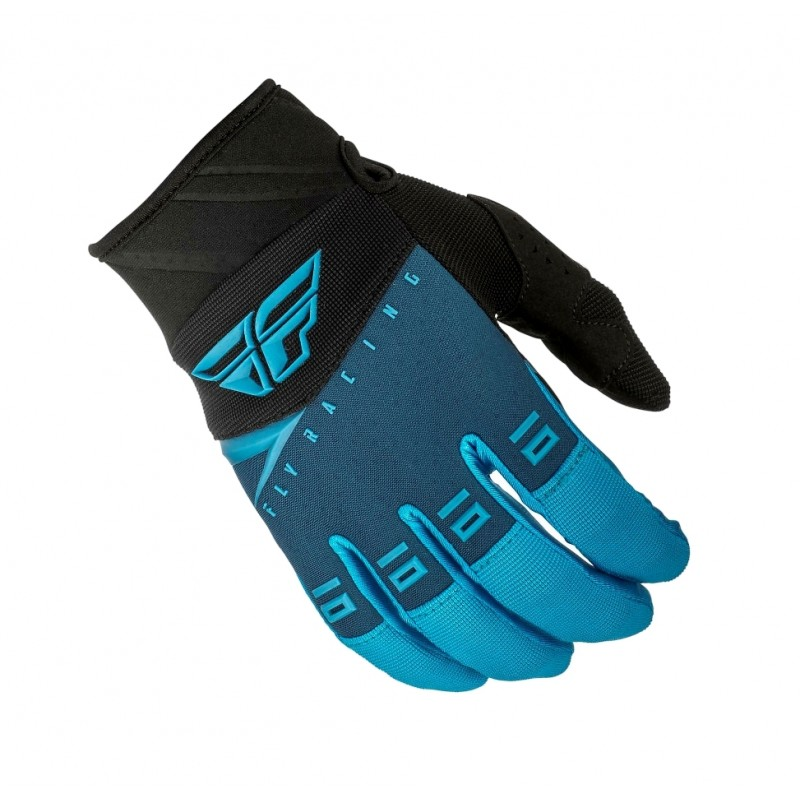 2019 Fly Racing F16 Kids Youth Motocross Gloves Blue Black