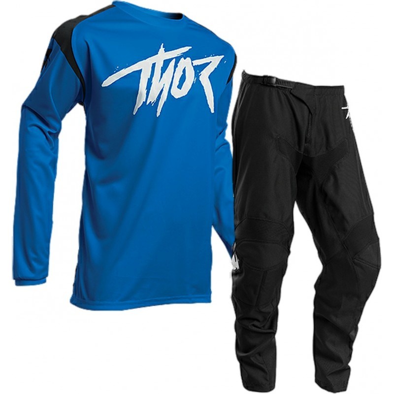 2020 Thor Sector Link Youth Kids Motocross Gear BLACK BLUE