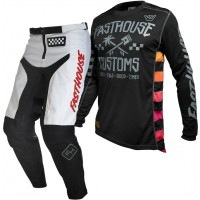 Fasthouse GRINDHOUSE Motocross Gear WHITE HAWK BLACK