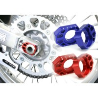 Anodised Rear Axle Chain Adjuster Blocks for Motocross Bikes