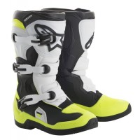 Alpinestar Tech 3S Kids Youth Motocross Boot Black White Yellow