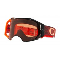 Oakley Airbrake EQUALIZER RED ORANGE Motocross Goggles PRIZM LENS