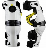 MOBIUS X8 Motocross Knee Braces White Acid Yellow