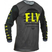 2020 Fly Racing Kinetic K220 Youth Kids Motocross Jersey Black Grey Hi Viz