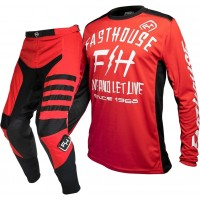 Fasthouse SPEEDSTYLE Motocross Gear RED DICKSON RED